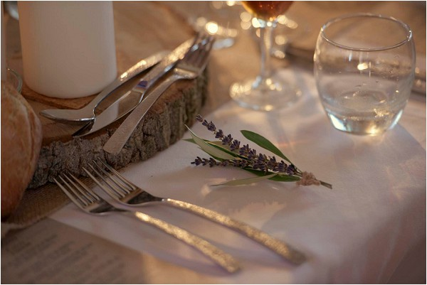 lavender wedding placesetting