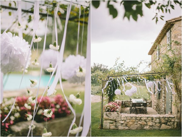 minimal wedding decorations outdoors