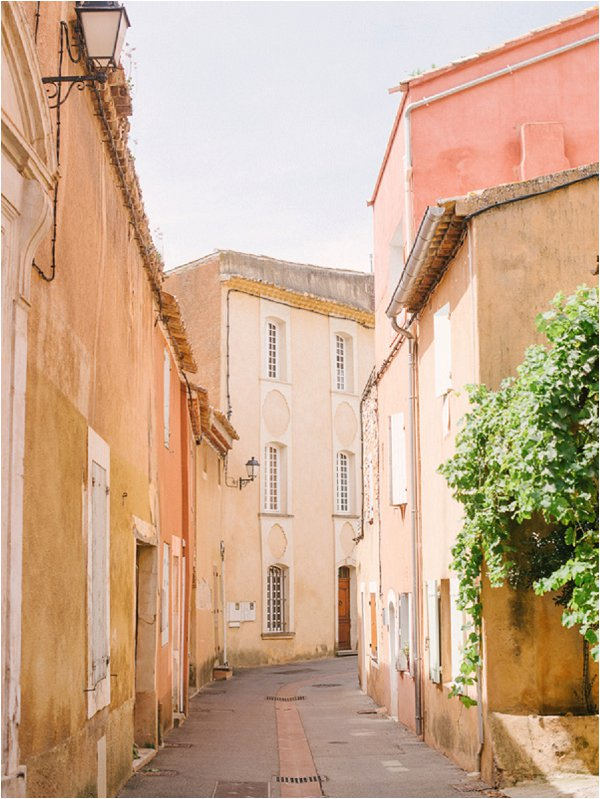 peach toned streets in South of France