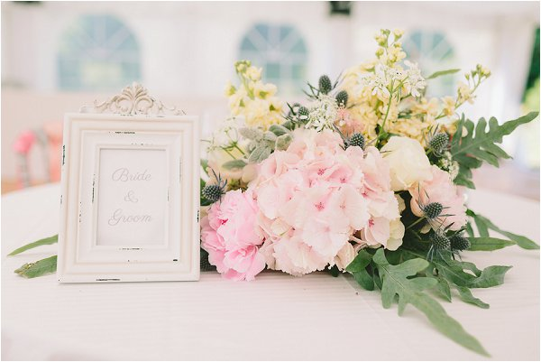 pretty pink table flowers