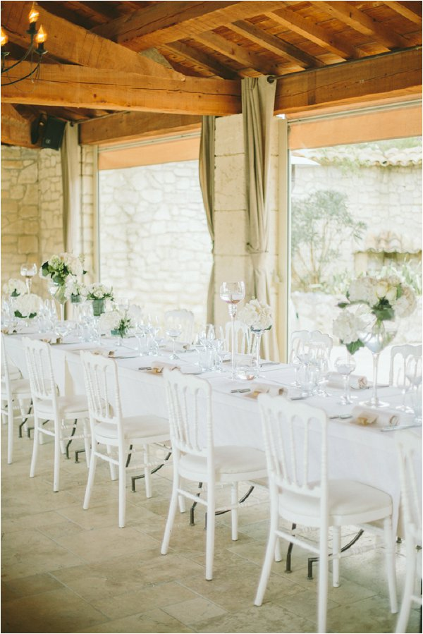 simpe white wedding decor