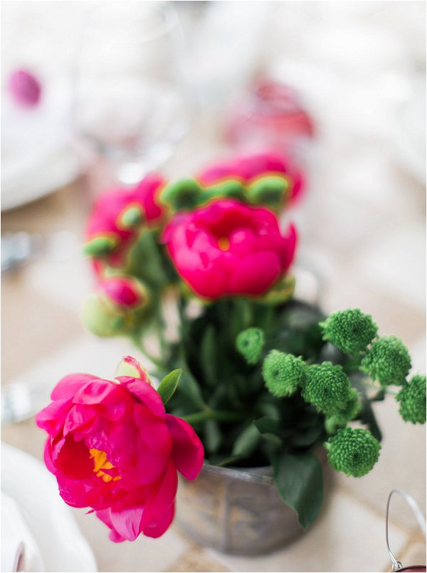 Beautiful bright pink Peonies perfect as wedding table centrepieces