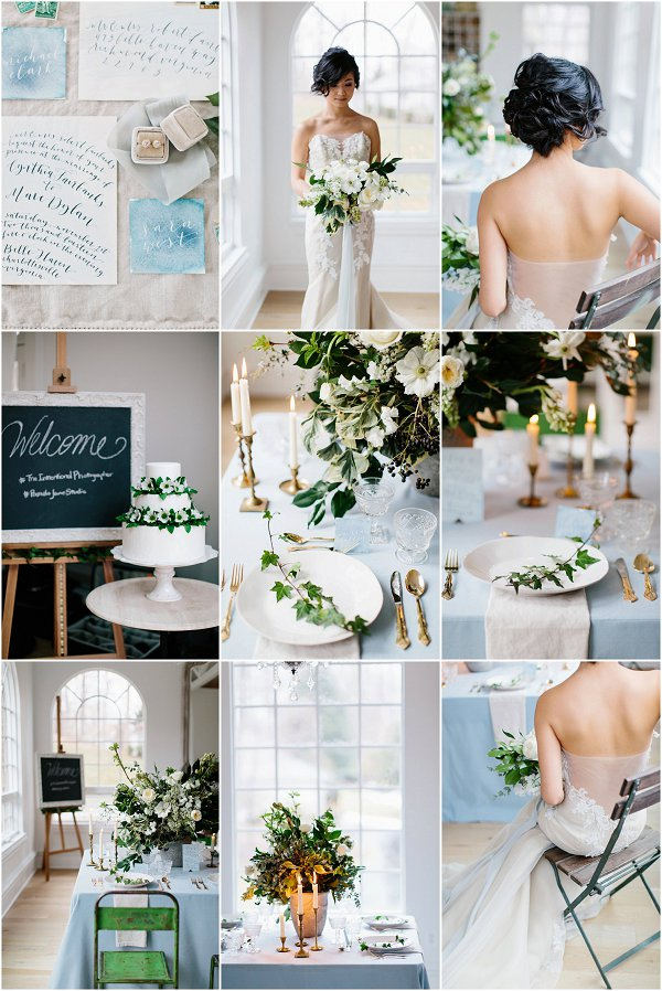 Elegant Winter Wedding Inspiration Board