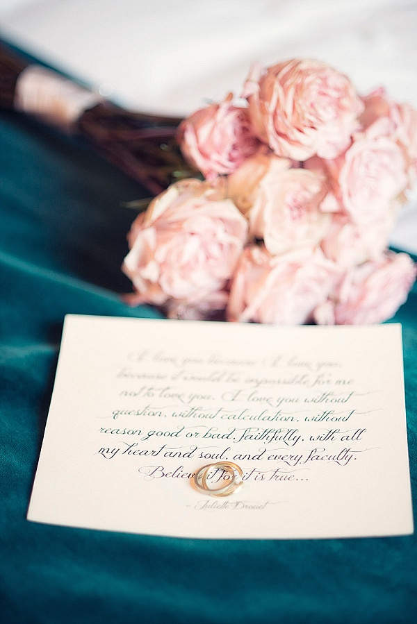 Pretty wedding vow keepsake
