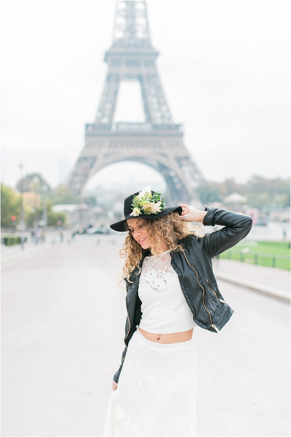 Paris France Boho Bride Wedding