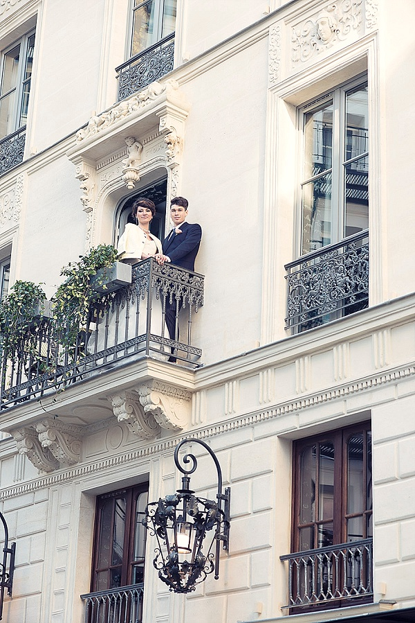Romantic Paris elopement