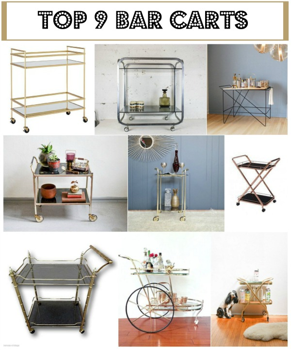 Top 9 Bar Carts