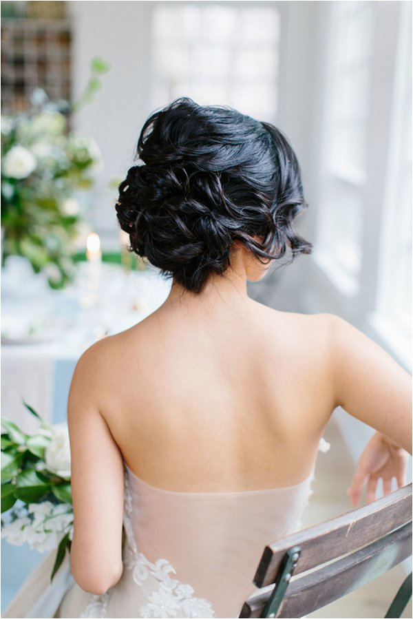 chic romantic bridal updo