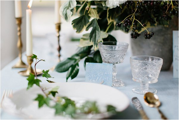 elegant crystal and gold wedding accents