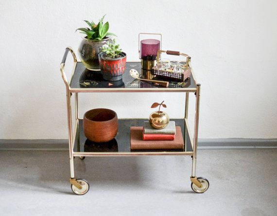 60's Brass Bar Cart