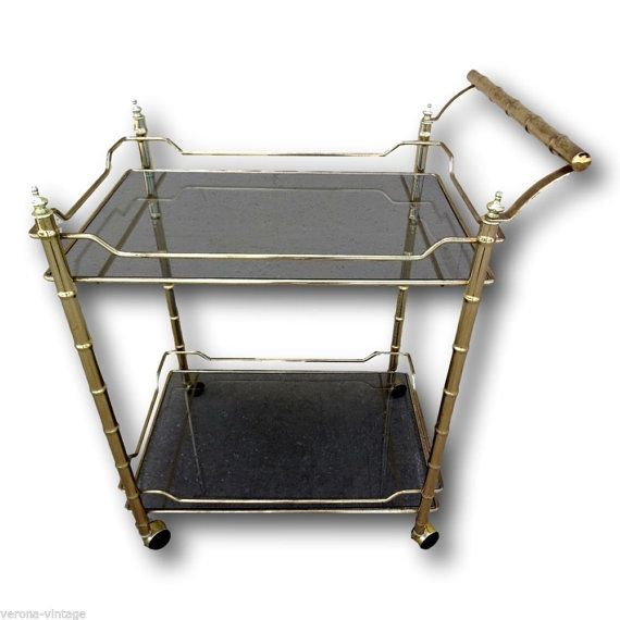 Vintage Hollywood Glamour Bar Cart