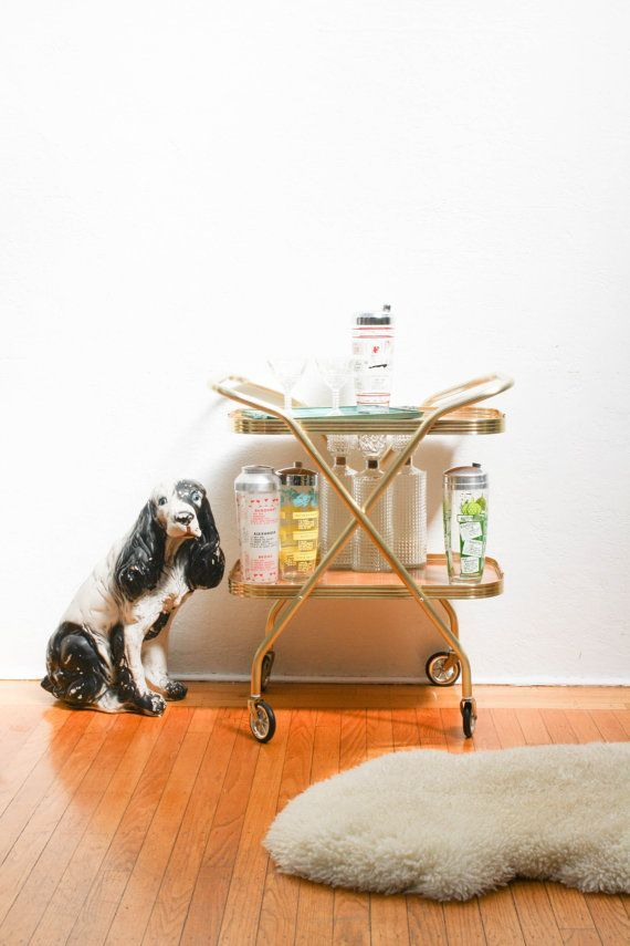 Rolling Cocktail Cart