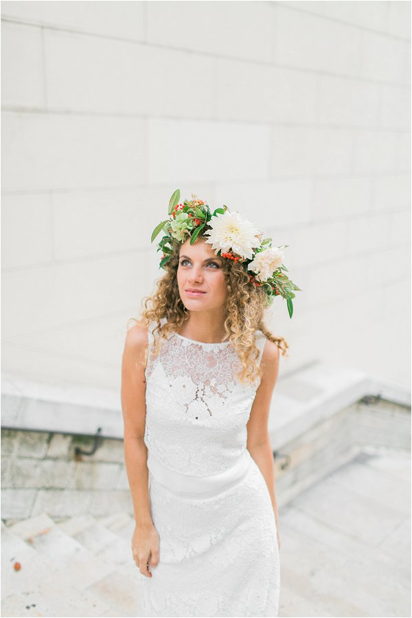 oversize floral bridal crown
