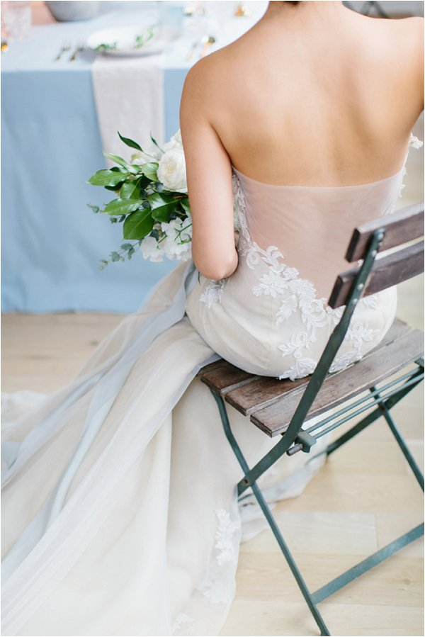sheer back Ines di Santo wedding dress