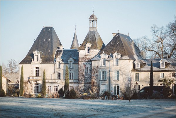 winter wedding chateau france