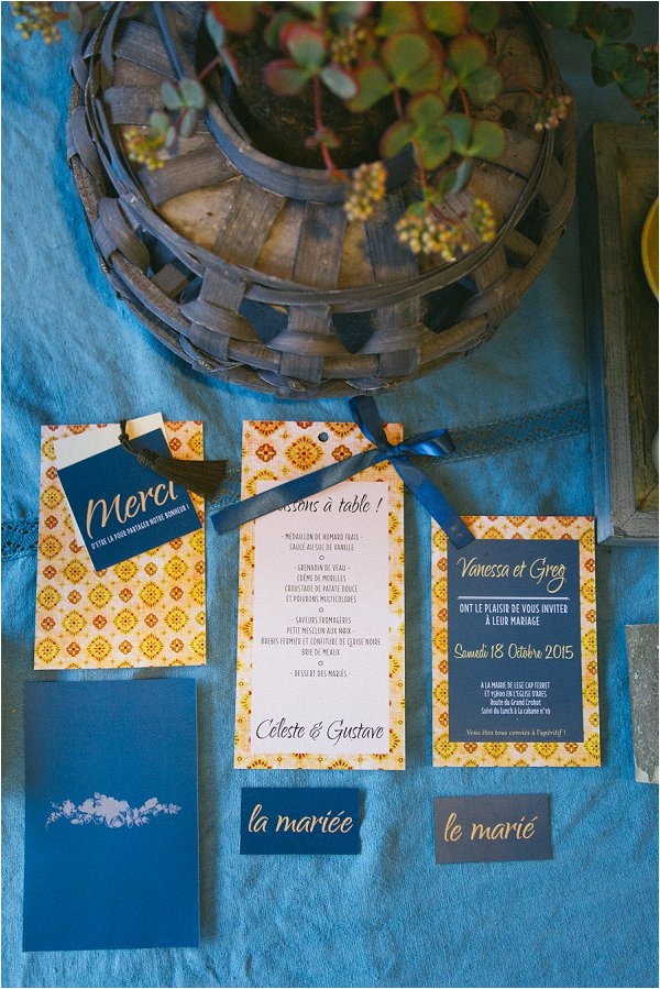 Blue Wedding Inspiration stationery