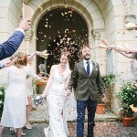 Confetti wedding exit fun