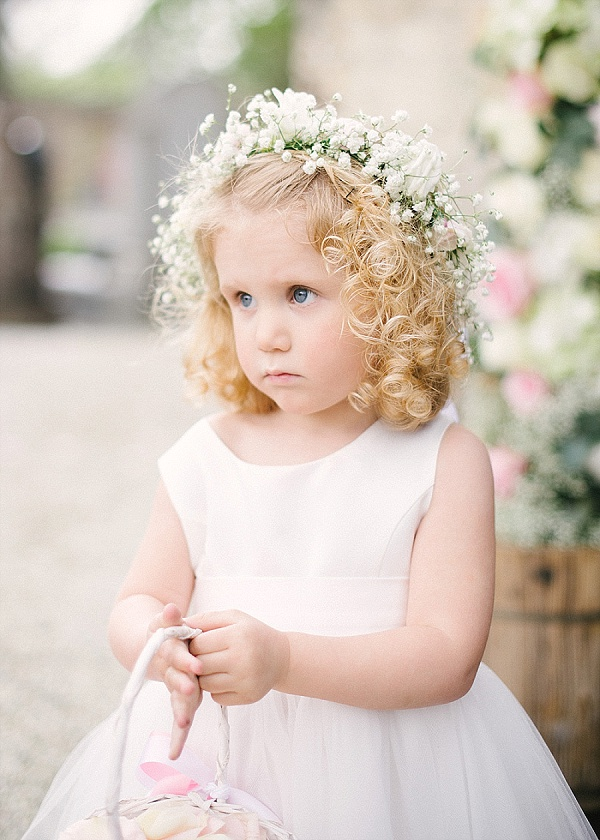 Gorgeous flower girl crown