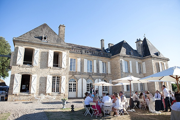 Outdoor chateau reception