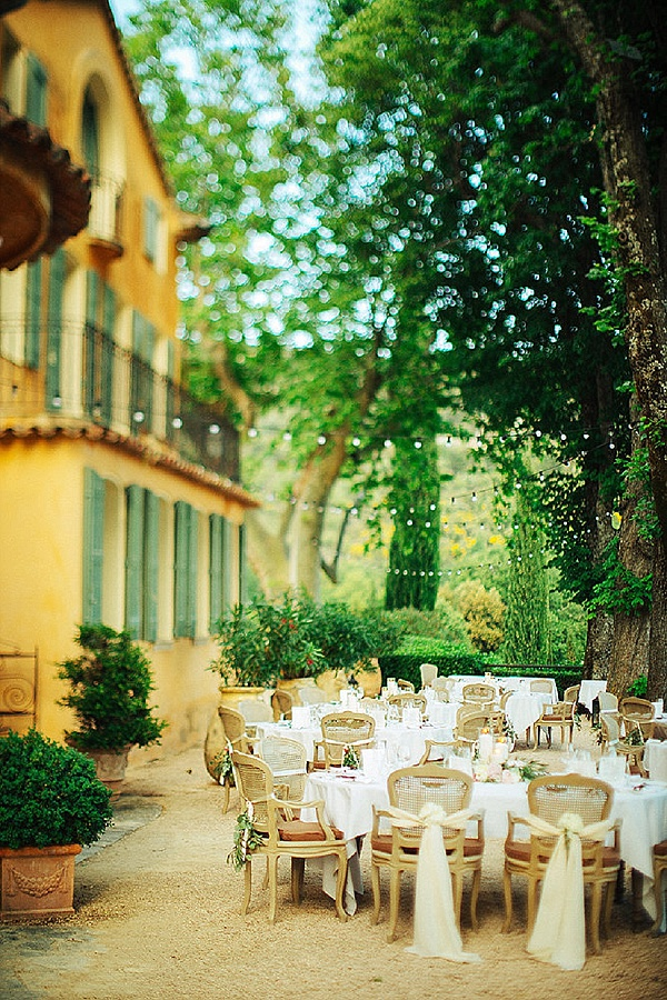 Outdoor provencal reception