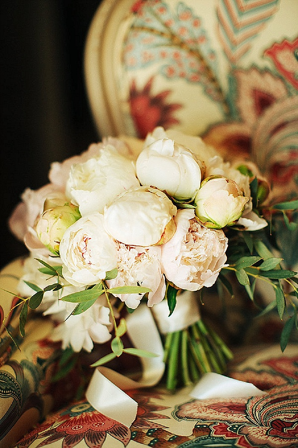Sweet pale blush bridal bouquet