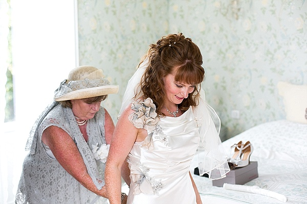 Vintage inspired wedding gown