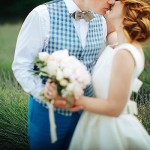 Waistcoat and bow tie groom attire