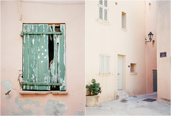 beautiful pastel colors in St Tropez