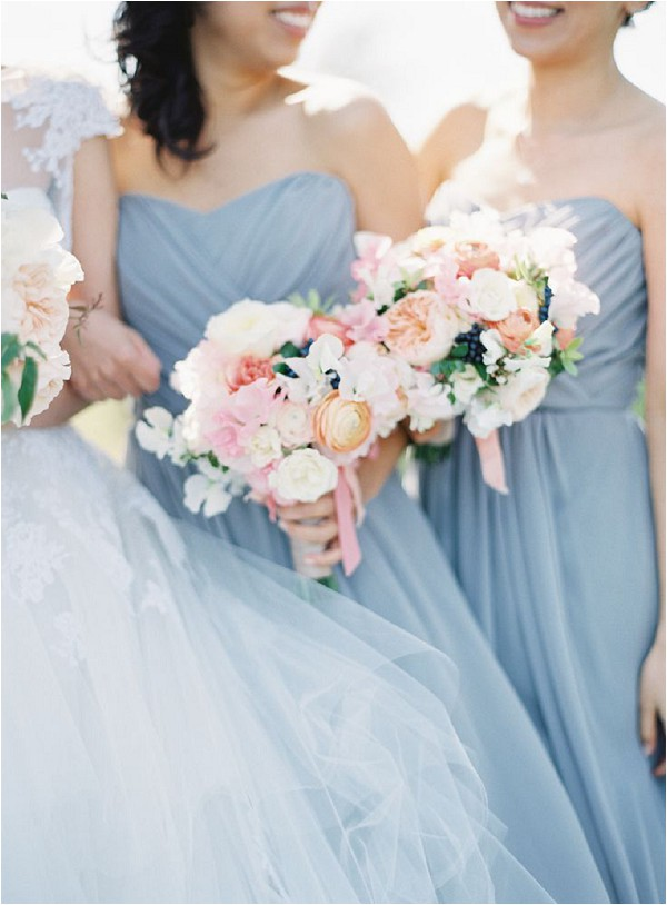 blue and pink bridesmaids - Kurt Boomer Photography