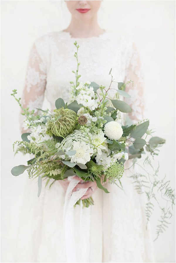 bridal bouquet with foliage - Craig & Eva Sanders