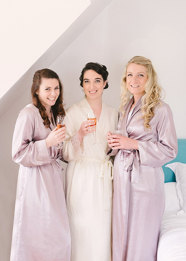 bridesmaids wedding day robes