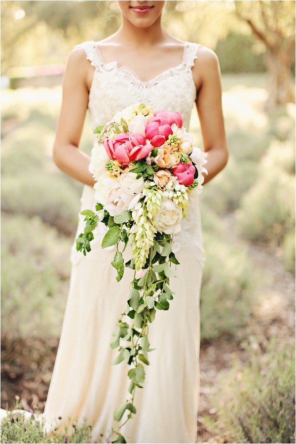 cascading bouquet - Brandi Smyth Photography