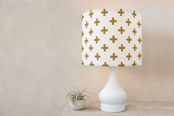 gold + table lampshade