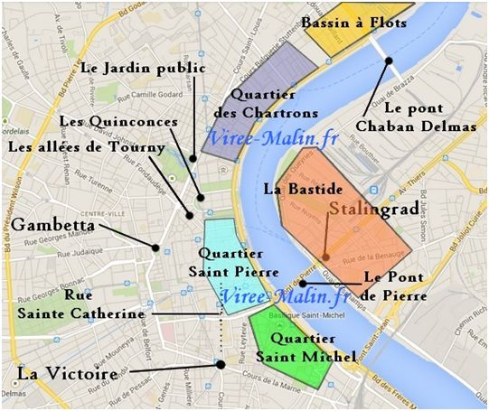 map of bordeaux France