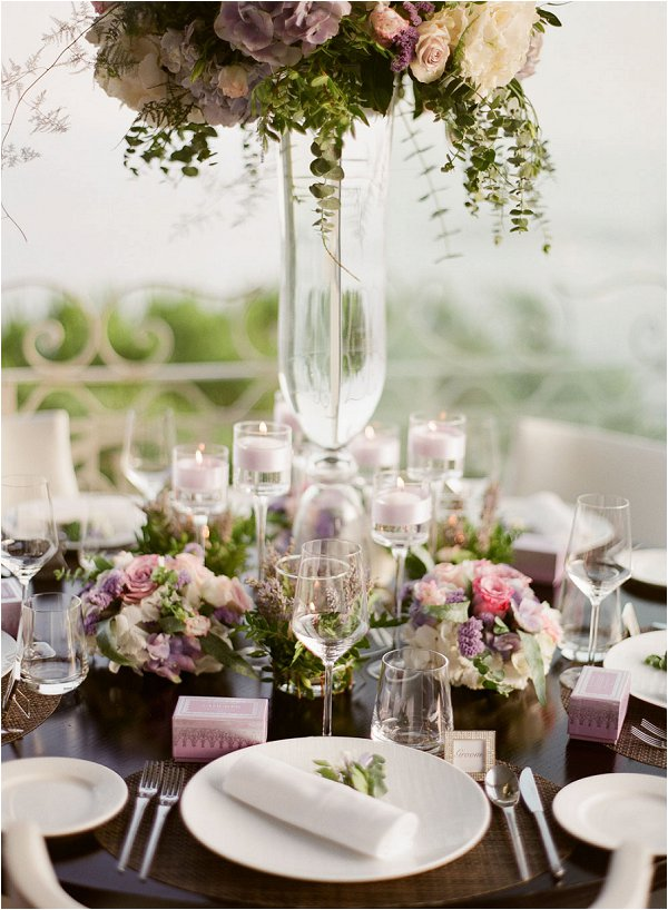 pastel colour and rich wedding table design