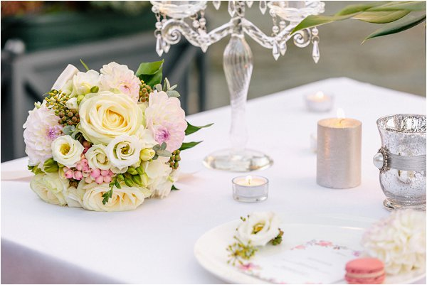 table setting for intimate wedding