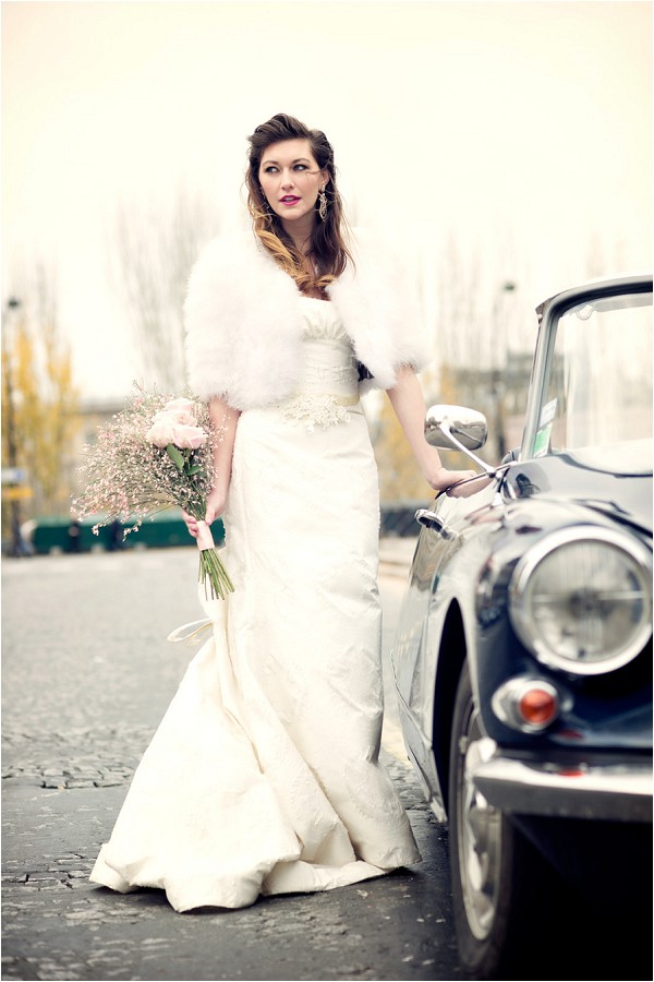vintage bridal style in Paris