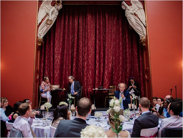 A family performance for French Style Wedding