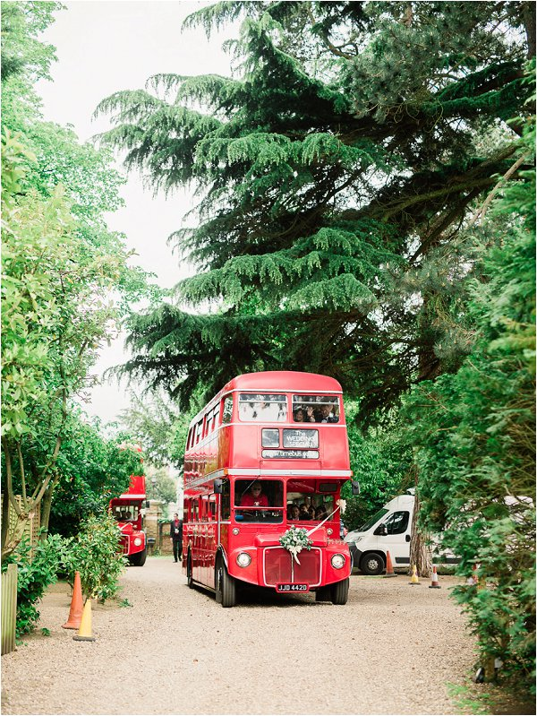 Bright Red London Wedding Bus
