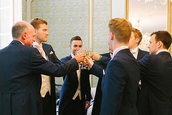 Groomsmen getting ready cheers