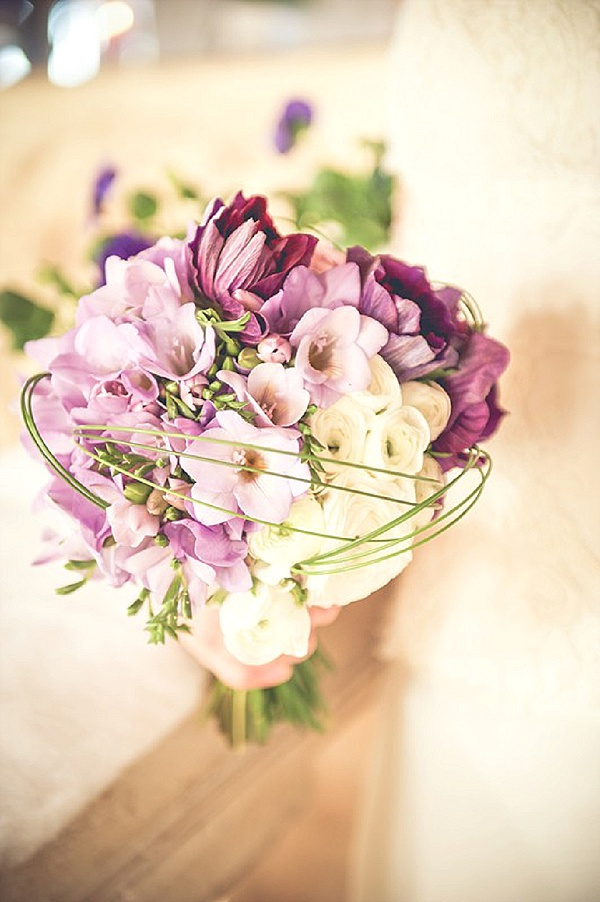 Lilac bridal bouquet