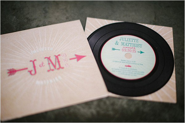Rock n roll wedding stationery