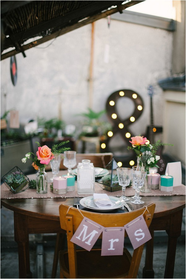 Rock n roll wedding table ideas