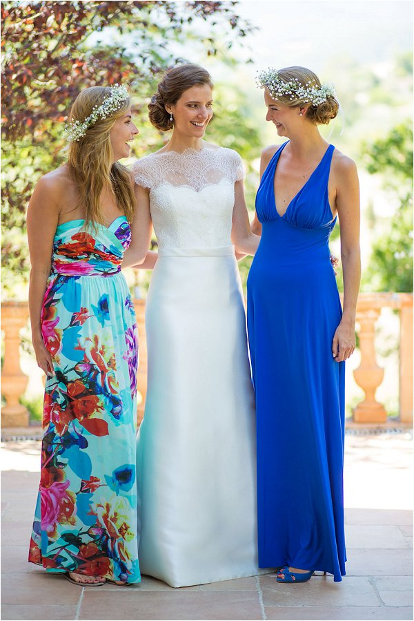 bride and wedding guests in Provence