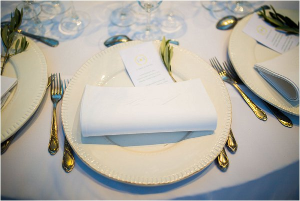 chic simple wedding table