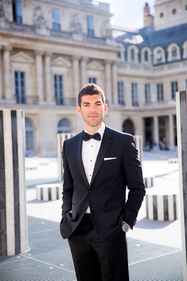 Black tie destination Paris wedding