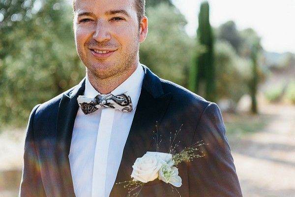 Bow tie Provencal Countryside Wedding