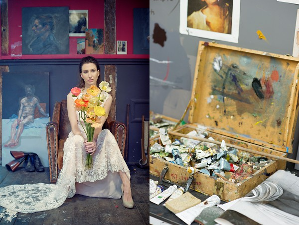 Chagall & bohemian-inspired style shoot