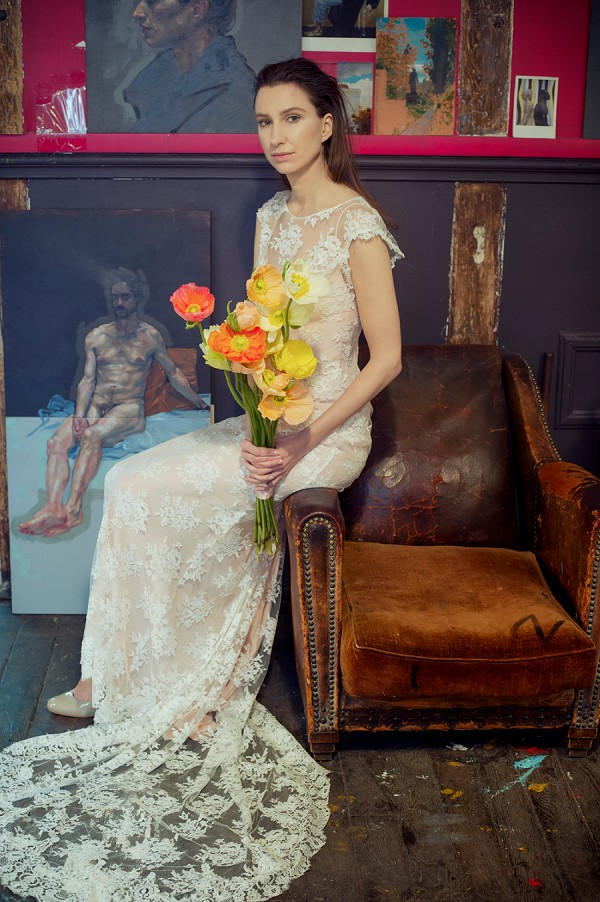 Chagall Inspired Bridal Shoot In Paris French Wedding Style
