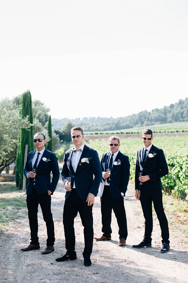 Dapper Groomsmen in Navy